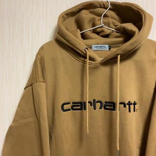 carhartt - 【美品】カーハート パーカー デカロゴ 刺繍 アースカラー ゆるだぼ