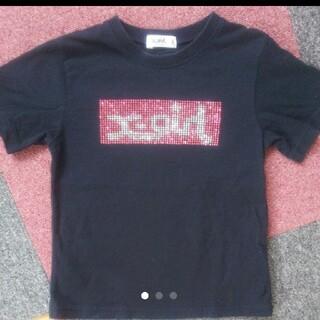 エックスガールステージス(X-girl Stages)のエックスガール 140cm☆スタッズ Tシャツ(Tシャツ/カットソー)