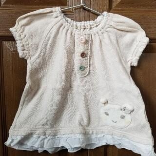 クーラクール(coeur a coeur)のクーラクール チュニック ワンピース ベージュ クリーム色 95(Tシャツ/カットソー)