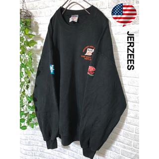 【輸入古着】ジャージーズ 袖刺繍 ワンポイント刺繍 トレーナー US/XL