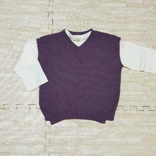 プティマイン(petit main)のpetit main 重ね着 ベストロンティーset(Tシャツ/カットソー)