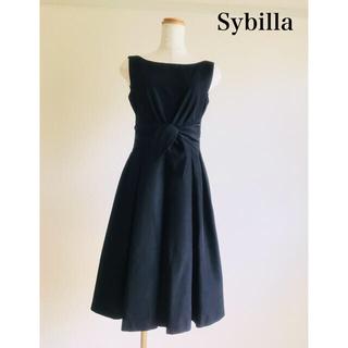 Sybilla - 美品 シビラ ワンピース 黒 M  シャンタン