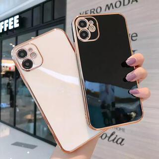 iPhone - iPhone12 Pro  Max 高級メッキフレームケース【ブラック】