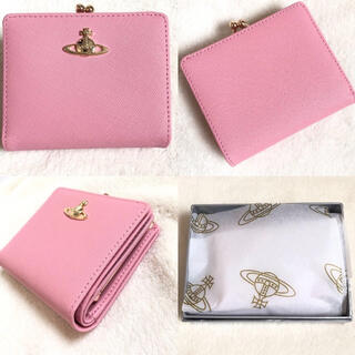Vivienne Westwood - 新品☆ ヴィヴィアンウエストウッド Vivienneレザー2つ折り財布 ピンク