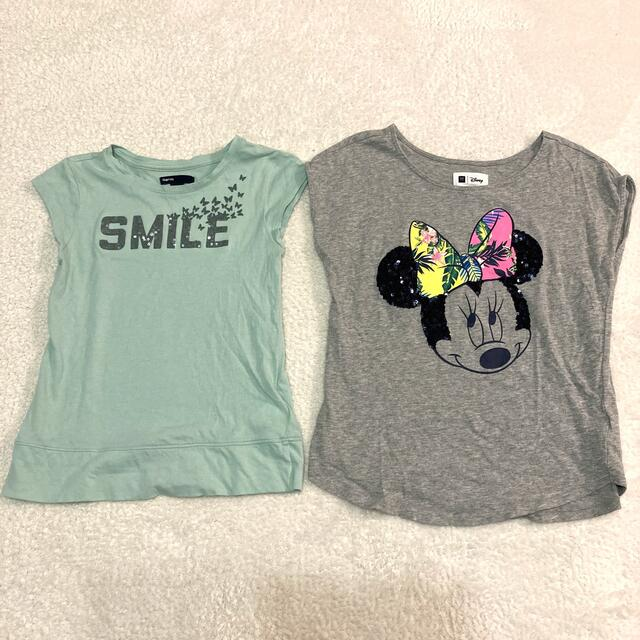 GAP Kids(ギャップキッズ)のgapkids  Tシャツ 2枚セット キッズ/ベビー/マタニティのキッズ服女の子用(90cm~)(Tシャツ/カットソー)の商品写真