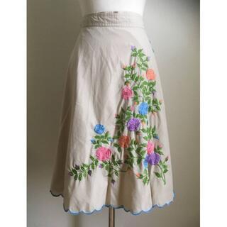 Lochie - ヴィンテージ花刺繍巻きスカート/ジャンティーク/グリモワール/アジア/北欧