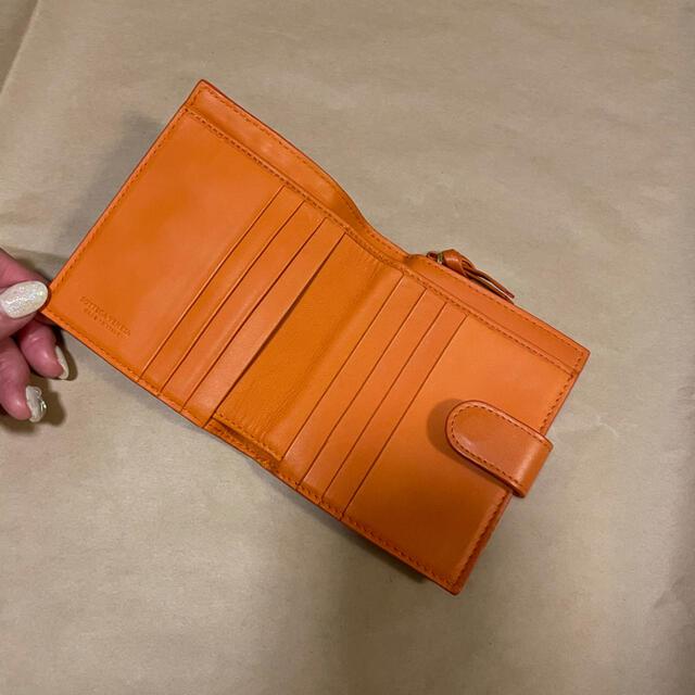 Bottega Veneta(ボッテガヴェネタ)のBOTTEGA VENETA 折り財布☆オレンジ 未使用品 レディースのファッション小物(財布)の商品写真