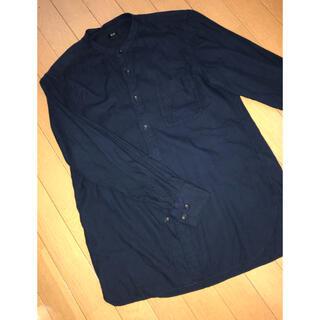 UNIQLO - ユニクロ スタンドカラーシャツ