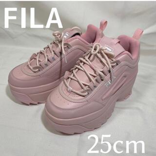 FILA - 【美品】FILA★25cm★ピンク★厚底スニーカー★韓国風
