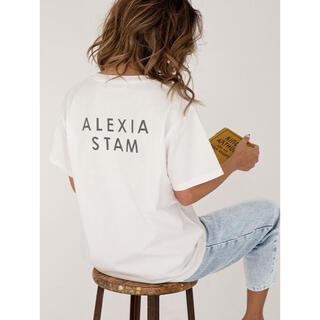 ALEXIA STAM - ALEXIA STAM Tシャツ バックロゴTシャツ