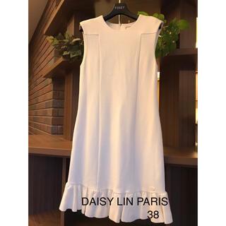 FOXEY - DAISY LIN PARIS 裾フリルワンピース 38 白 FOXEY