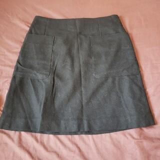 シンプル ブラックスカート(ひざ丈スカート)
