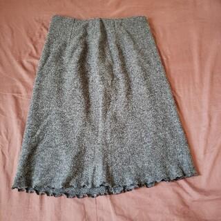 裾が可愛い 膝丈スカート(ひざ丈スカート)