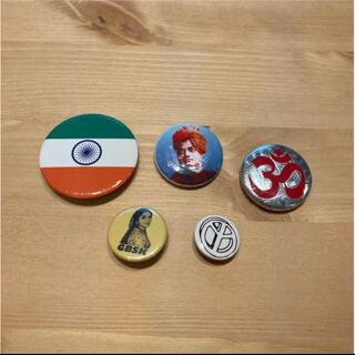 バッジ 5点セット 缶バッジ ピンバッジ ヨガ オーム インド GBSK(ヨガ)