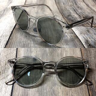 クリアフレーム モスグリーン ボストン サングラス ボストン 眼鏡