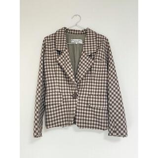 クリスチャンディオール(Christian Dior)のChristian Dior  古着 チェック柄ジャケット(テーラードジャケット)