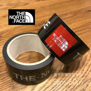 THE NORTH FACE - 【希少】 ノースフェイス 海外店舗用 ビニールテープ スクエアロゴ ステッカー