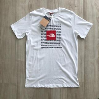 THE NORTH FACE - 【海外限定】ノースフェイス ジュニア リピートロゴ Tシャツ 白  160cm