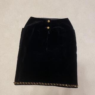 シャネル(CHANEL)のシャネル ベロアスカート(ひざ丈スカート)