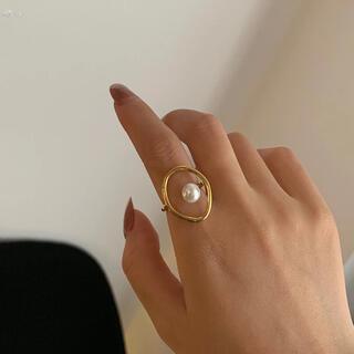 BEAMS - リング 指輪 パール ゴールド 新品 韓国