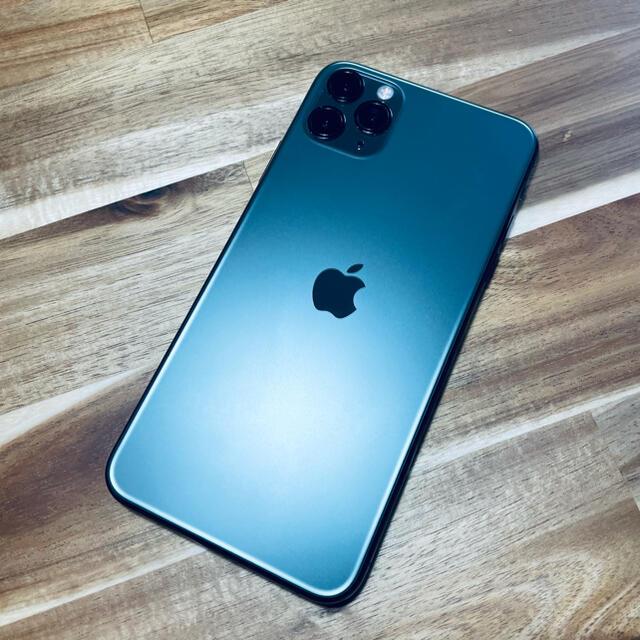 Apple(アップル)のiPhone 11 Pro Max ミッドナイトグリーン 64 GB スマホ/家電/カメラのスマートフォン/携帯電話(スマートフォン本体)の商品写真