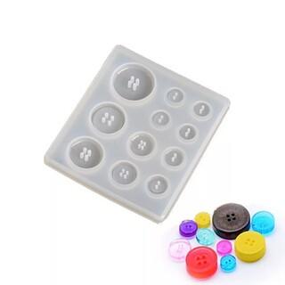 ボタン型♡アクセサリー✨レジンシリコンモールド