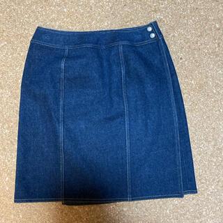 シャネル(CHANEL)の土日限定お値下ヴィンテージシャネルラップデニムスカート(ひざ丈スカート)