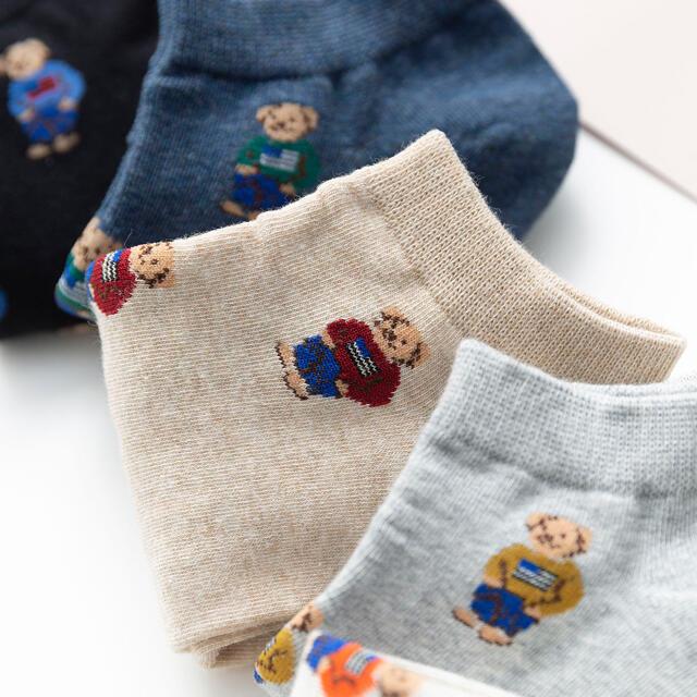 クマ 靴下 レディース 人気 4足セット 激安 レディースのレッグウェア(ソックス)の商品写真