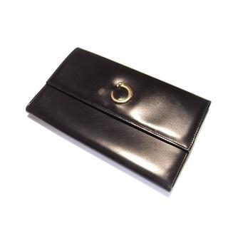 Cartier - ☆良品☆カルティエ ゴールドパンサー 小銭入れ付き長財布 ブラック