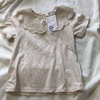 H&M - 新品未使用タグ付 フリル襟付きTシャツ