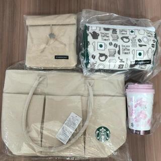 スターバックスコーヒー(Starbucks Coffee)のスタバ 2021   桜タンブラー トートバッグ 福袋 スターバックス(タンブラー)