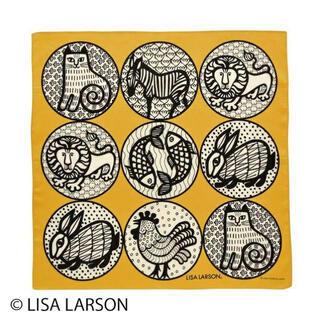 リサラーソン(Lisa Larson)の新品 リサラーソン ニナ ハンカチ 北欧 ハンカチーフ イエロー(ハンカチ)