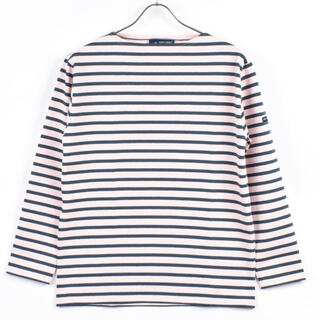 SAINT JAMES - 新品 セントジェームス  OUESSANT   ライトピンク×グリーン T3
