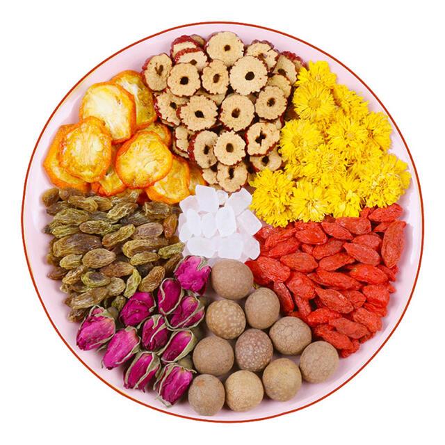 バラ八宝茶 健康薬膳茶 ハーブティー 漢方茶 花茶 美容茶 中国茶フルーツティー 食品/飲料/酒の健康食品(健康茶)の商品写真