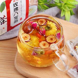バラ八宝茶 健康薬膳茶 ハーブティー 漢方茶 花茶 美容茶 中国茶フルーツティー
