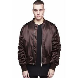 STUSSY - represent ギャザースリーブMA-1ジャケット/袖ギャザー