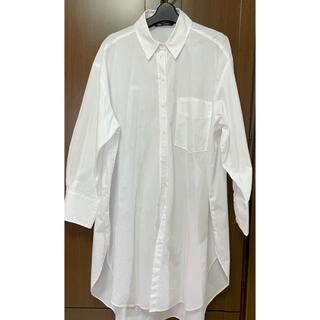 ZARA - 白シャツ オーバーサイズ ZARA ロング丈