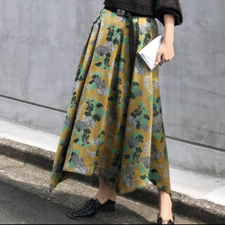 Ameri VINTAGE - アメリヴィンテージ BERRY JACQUARD BELT SKIRT イエロー