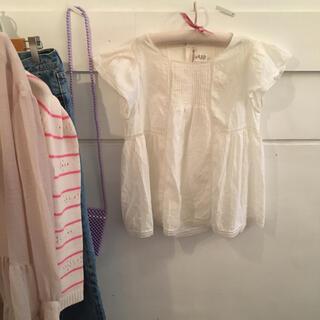 ボンポワン(Bonpoint)の最終お値下げ🤍Bonpoint dot blouse.(シャツ/ブラウス(半袖/袖なし))