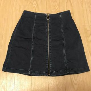 GU - GU デニムスカート 台形スカート