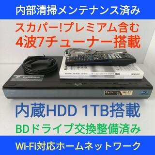 SHARP - SHARP ブルーレイレコーダー【BD-W1000】◆1TB搭載◆スカパー内蔵