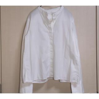 MUJI (無印良品) - 無印良品 MUJI 新疆綿洗いざらし ブロードスタンドカラーシャツ ホワイト 白