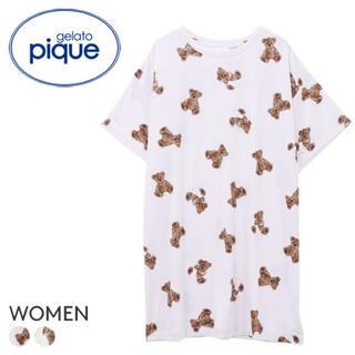 gelato pique - ジェラートピケ⭐︎ベアモチーフ抗菌防臭ドレス