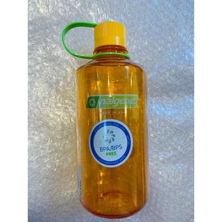 ナルゲン(Nalgene)のナルゲン ナローマウスボトル 1ℓ クレメンタイン 新品未使用(登山用品)