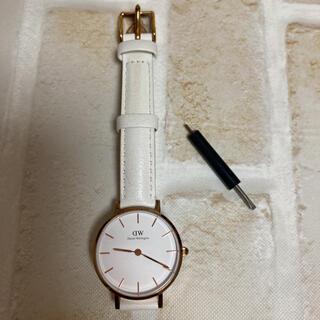 ダニエルウェリントン(Daniel Wellington)の【最終値下げ】ダニエルウェリントン 腕時計 白 280mm&ベルト外し用の工具(腕時計)