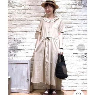 SM2 - 新品未使用 春夏に涼しく可愛い人気ベージュ リネン混わんぴーす 重ね着にも