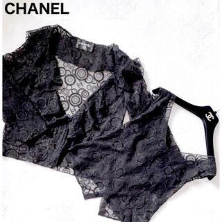 シャネル(CHANEL)の美品 レア物 シャネル 総レースココマーク刺繍アンサンブル(アンサンブル)