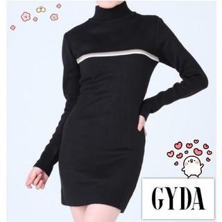 GYDA - GYDA タートル タイト ワンピース ブラック