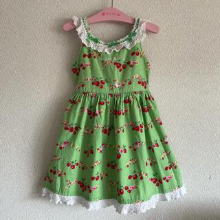 mezzo piano - mezzo piano♡夏ワンピ 花柄ワンピース 緑 ワンピースドレス♡120