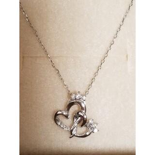 サマンサティアラ(Samantha Tiara)の新品 サマンサティアラ 18金 ダイアモンド ハートネックレス ホワイトゴールド(ネックレス)
